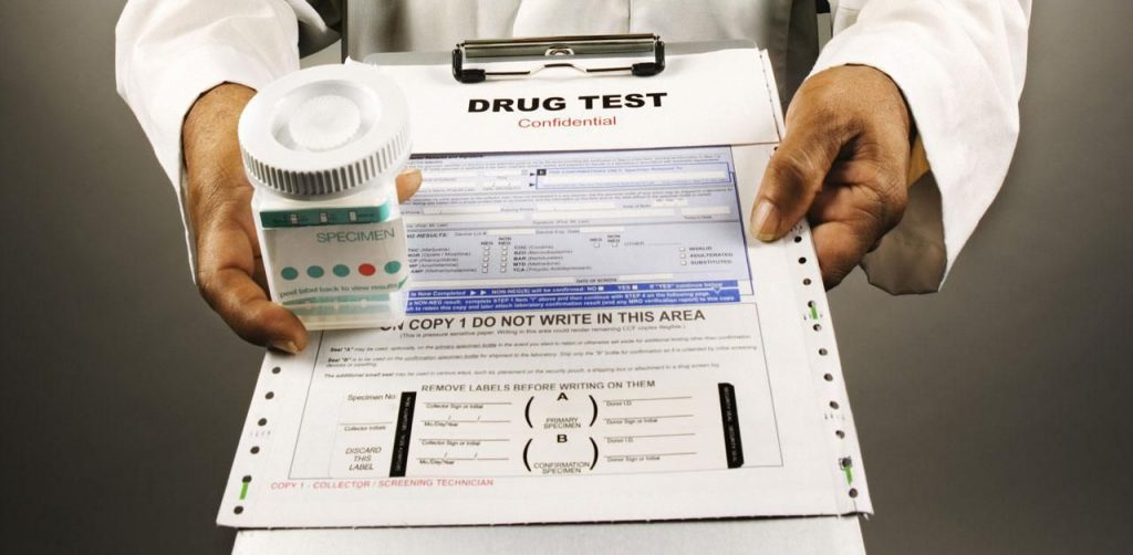 drug test of a job application
