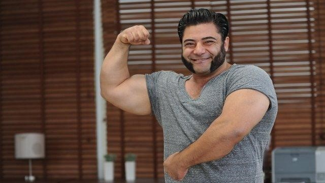 Baboumian is a massive vegan bodybuilder and strongman