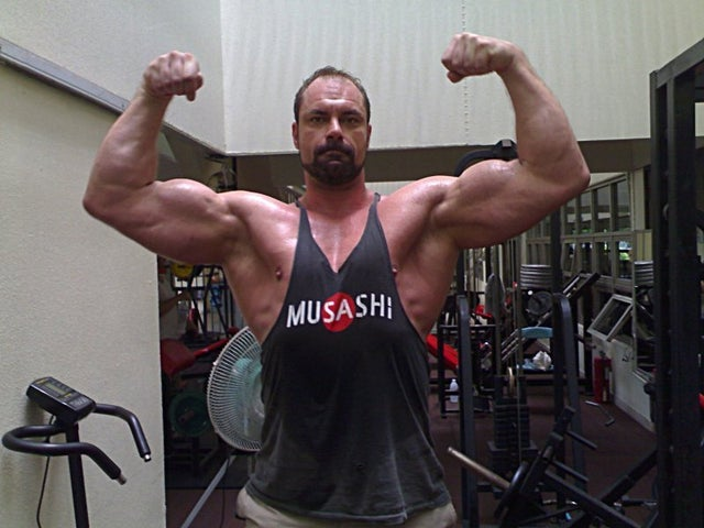 Conan Stevens is huge and one of the tallest bodybuilders around