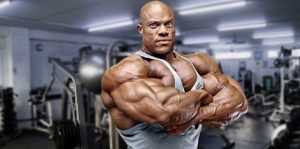 Phil Heath stands today as a massive bodybuilder